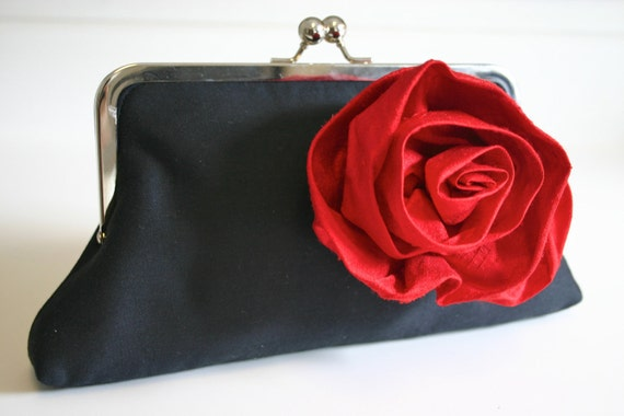 Black and Red Clutch