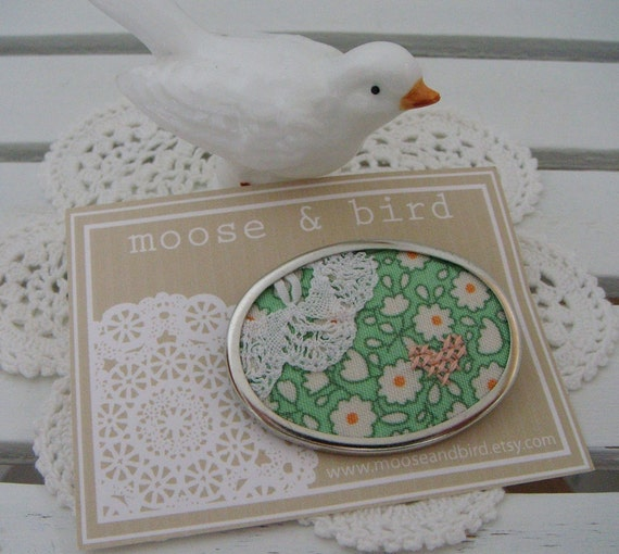 Doily Brooch - Green (224)