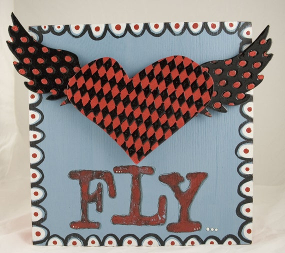 Fly Original Mixed Media FREE US SHIP