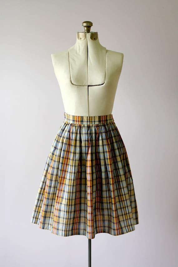 1960s vintage tartan full skirt
