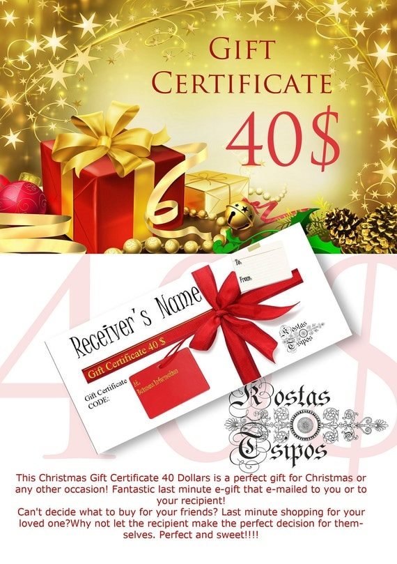 Christmas Gift Idea Gift Certificate Last minute shopping 40 dollars posters prints wall decor