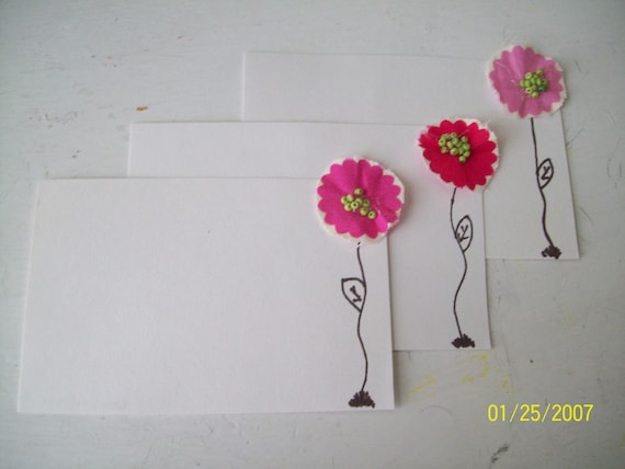 Pretty Pink Flower Stationary