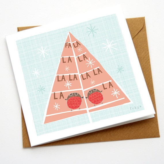Fa La La La La - Greeting Card