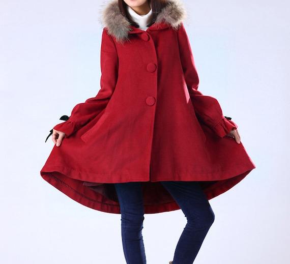 kekebo سبک لباس پشم پوشش پشمی کت ترمه پوستین کت کت صورتی سیاه قرمز سبز سیاه کت کت گل کت کت بلند پرسید :