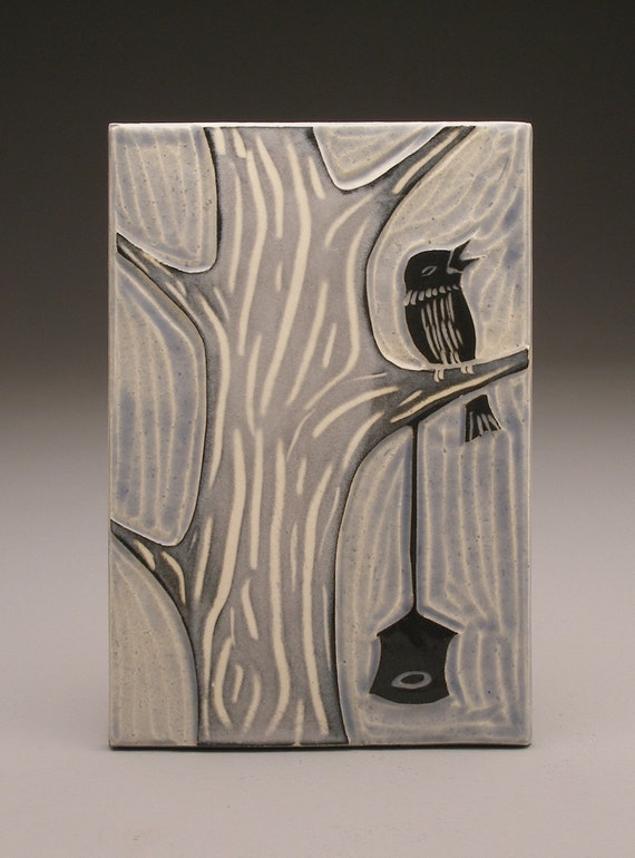 Winter Bird- 4x6 tile- Ruchika Madan