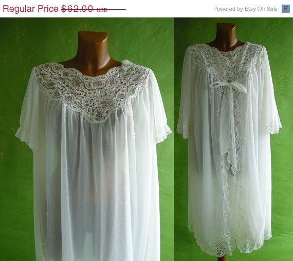 Holiday Sale Wedding White Chiffon Vintage 50s by empressjade from etsy.com