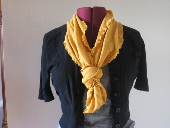 Infinity scarf in mustard sophisticate new year's eve fashion