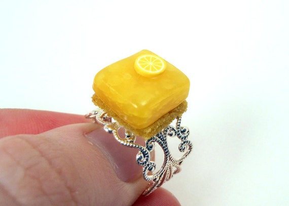 Ring Kawaii Lemon Square