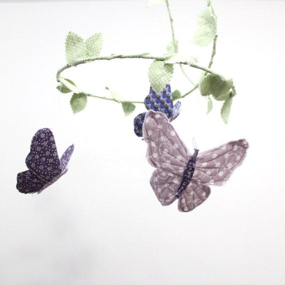 CUSTOM Butterfly Mobile - handmade fabric mobile for Nursery Decor