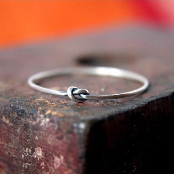 Tiny Knot Ring in Sterling Silver