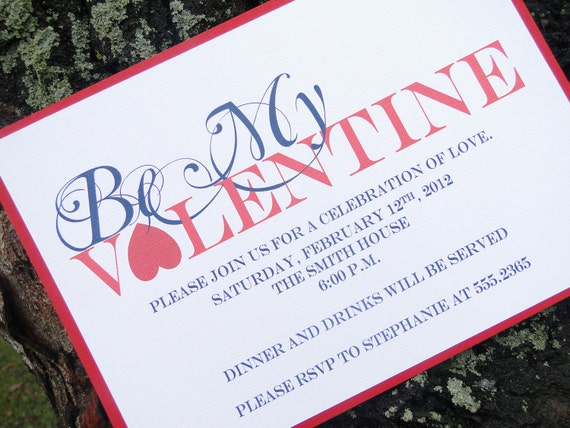 Be My Valentine Invitation (set of 10)