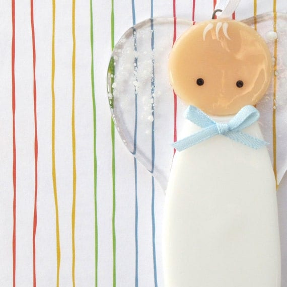 Baby Girl Christening Favors Glass Ornament: Trina's Trinketts: Etsy Finds Friday