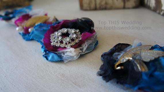 Custom Vintage Brooch and Fabric Corsage - Made to Order