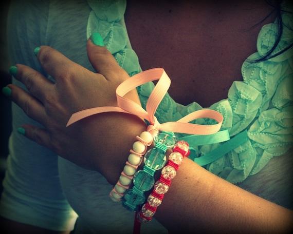 Island Princess Ribbon Bracelet Trio