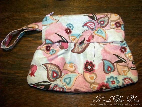Fun Pink Print Wristlet/Clutch