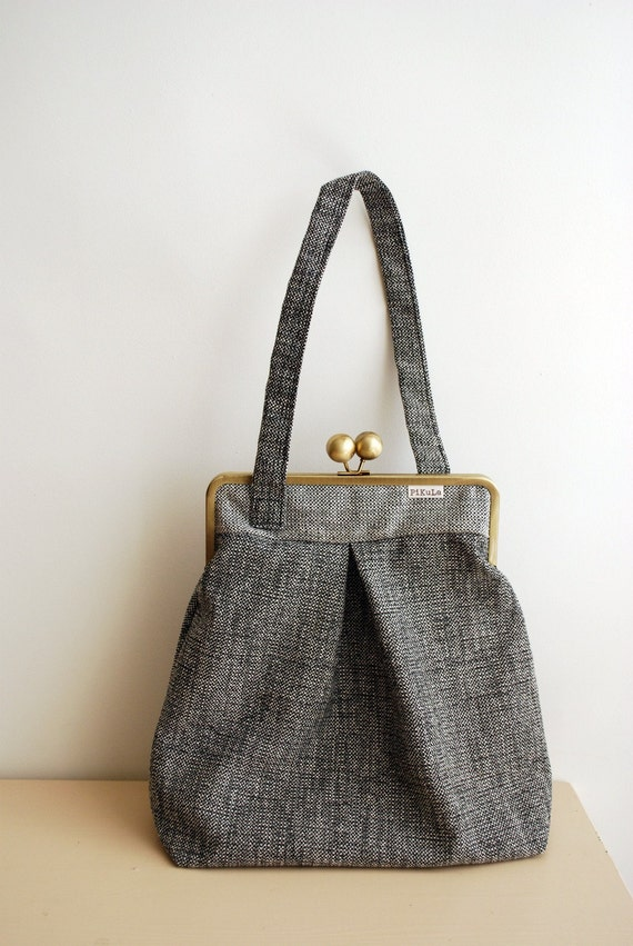 LARGE BAG grey and white