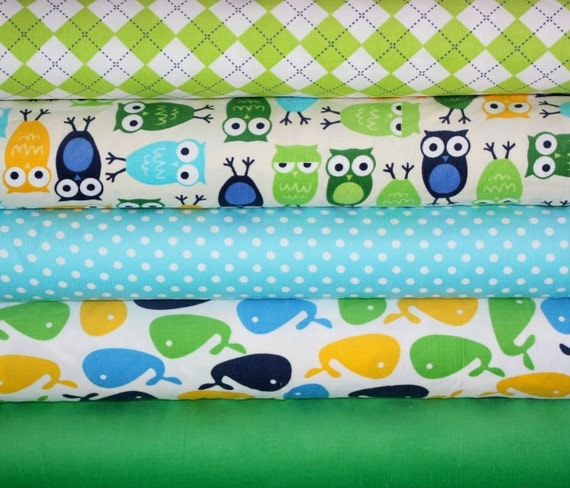 Urban Zoologie Cool Cords fabric bundle by Ann Kelle for Robert Kaufman -1/2 Yard Bundle- 5 total