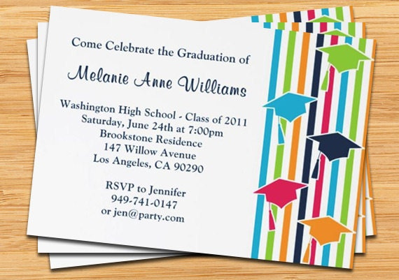 Stripes and Mortars 2012 Graduation Invitations