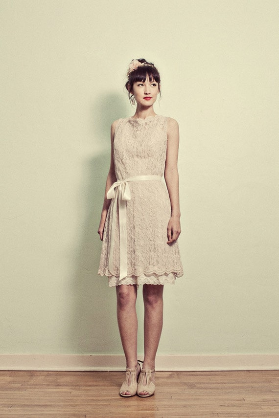 Vintage Inspired Lace Shift Dress - Various Fabrics - Made to Order
