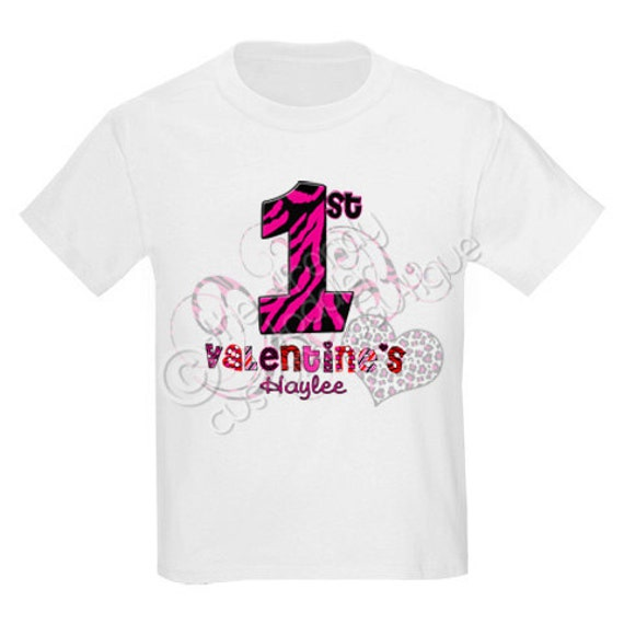Animal Print First Valentines Day Love Shirt Personalized Just For You