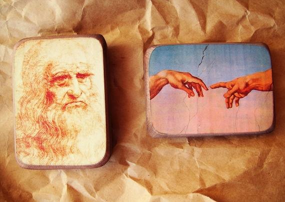В стиле Ренессанса магниты на холодильник Комплект из 2 - подарок для друга