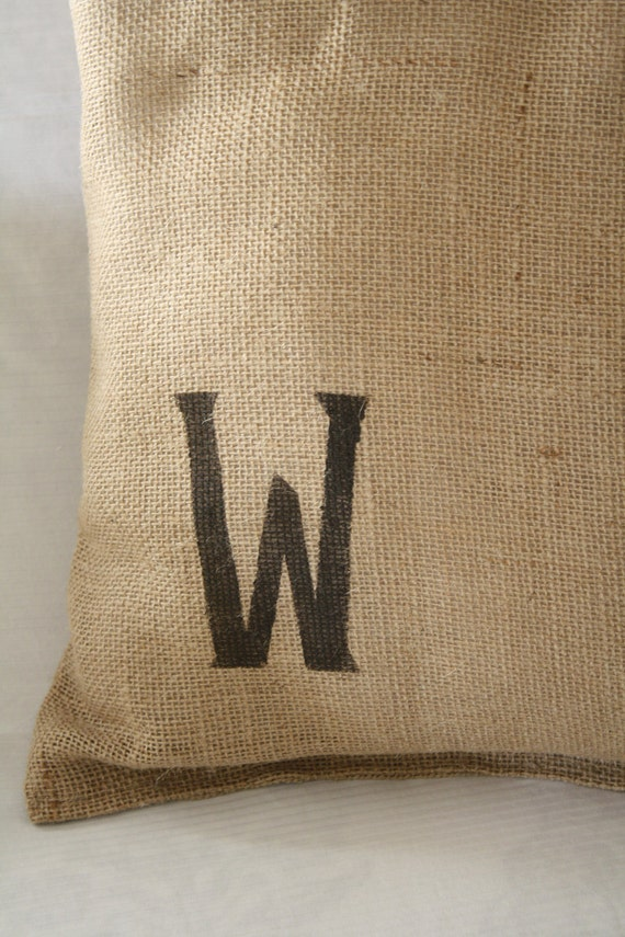 Custom Burlap Pillow