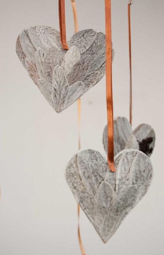 4 серый сердца Валентина, свадебные украшения, платяной Валентина сердце украшение