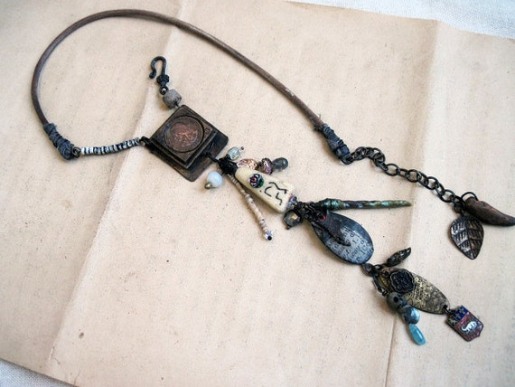 Theosophy. Found Object Assemblage Choker.