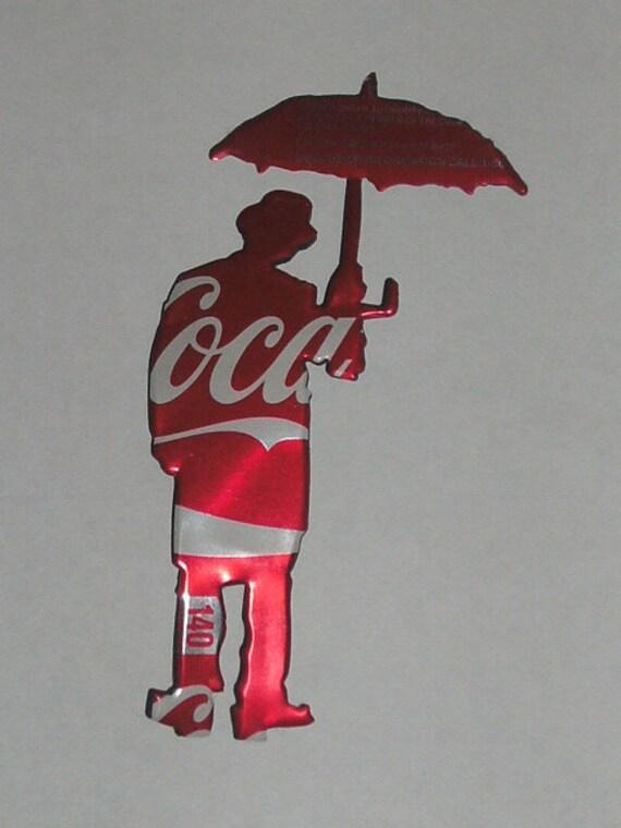 coca cola upcycled umbrella man man