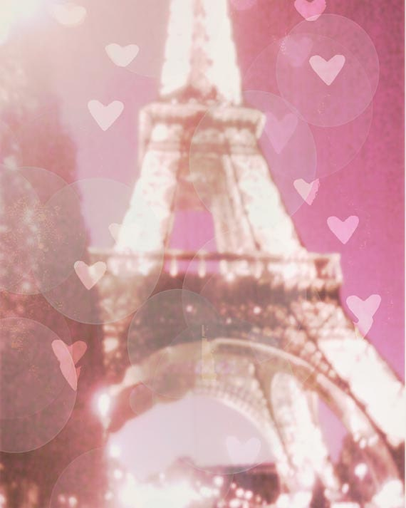 Valentines Gift, Paris, Pink, Photography, Eiffel Tower, Hearts