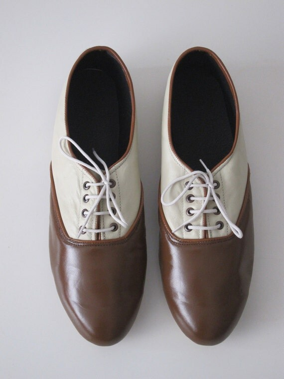 Pony oxfords flats in Earth tones-two tones