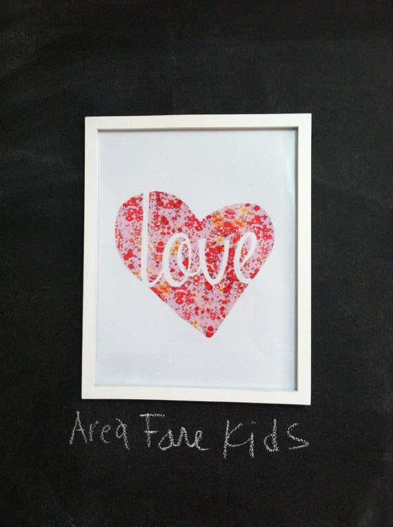 8 X 10 LOVE Heart Art Print