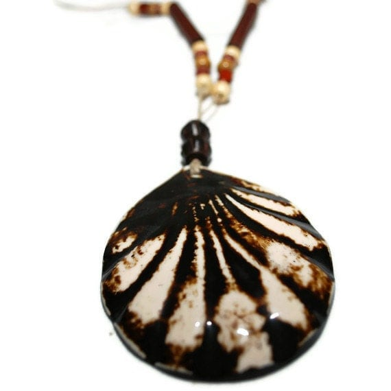 Shell Rush OOAK Clearance Necklace- Etsy Treasury item