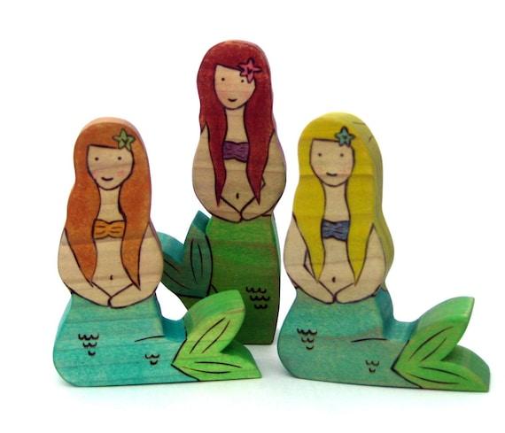 Set of 3 Mermaids Handmade Kids Toy - Childrens Toy