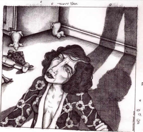 Original Illustration - Movie Star from the 2004 book The Famous and The Anonymous