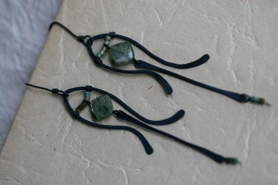 Green Composition earrings