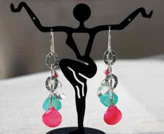 Spring Colored Dangle Drop  Earrings