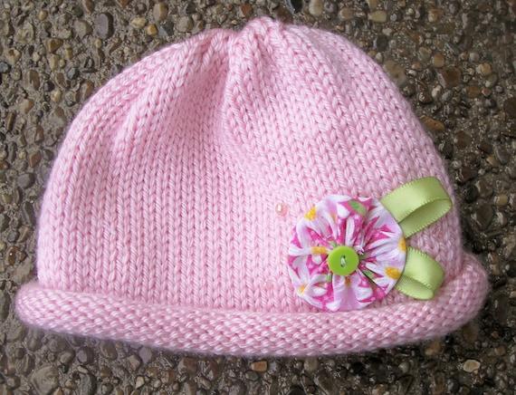 Knitty باشید صورتی نوعی اسباب بازی بچگانه کلاه --- بزرگ عکاسان، سرپا نگه داشتن عکس برای نوزادان / نوزاد / دختر
