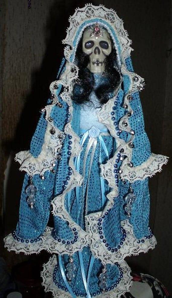 Santa Muerte in Blue