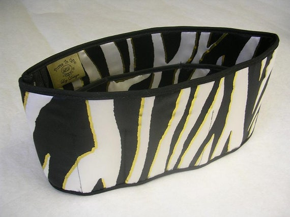 Purse To Go(R)Purse organizer insert transfer liner-Tiger Print-Jumbo size- Enclosed Bottom-Change purses in seconds
