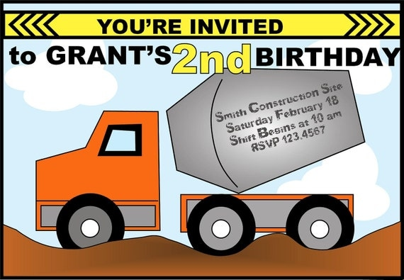 Construction Party Invitation
