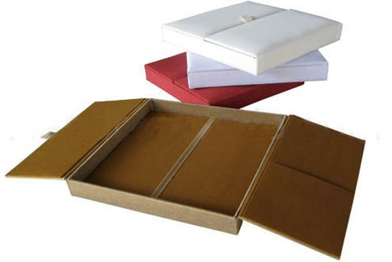Silk Wedding Invitation Boxes ANY COLOR Available
