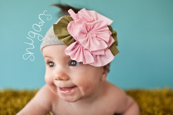 Сладкий Хизер Snugar оголовье волосы группа девочек малыша детский Baby Pink