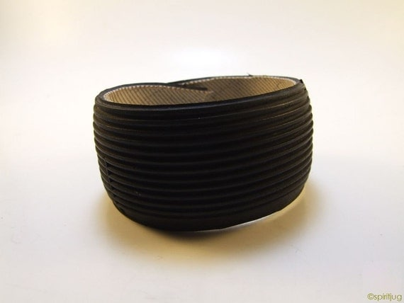 Bike Tire Cuff - upcycled bicycle tire - medium - FREE SHIPPING