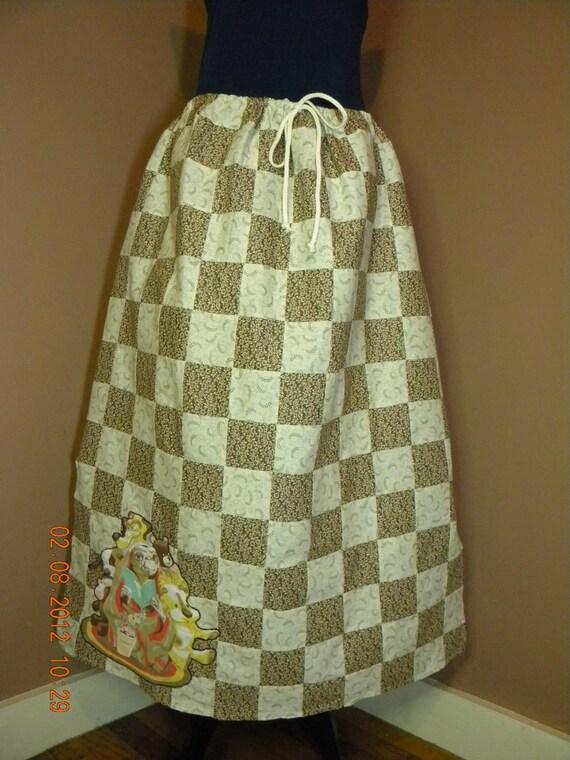 Vintage ET Patchwork Hippie Skirt