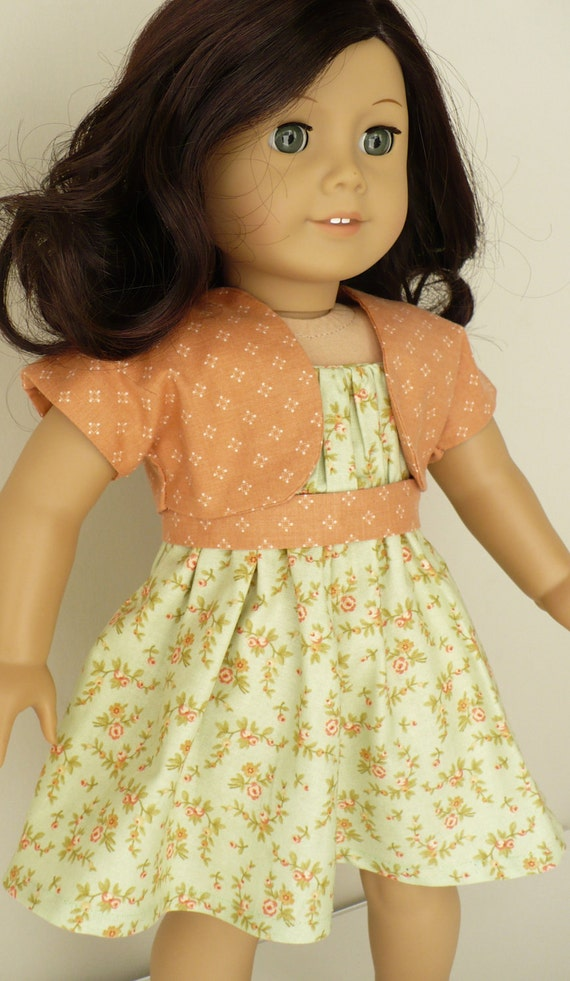American Girl 18 inch doll clothes - two piece outfit -  dress and shrug