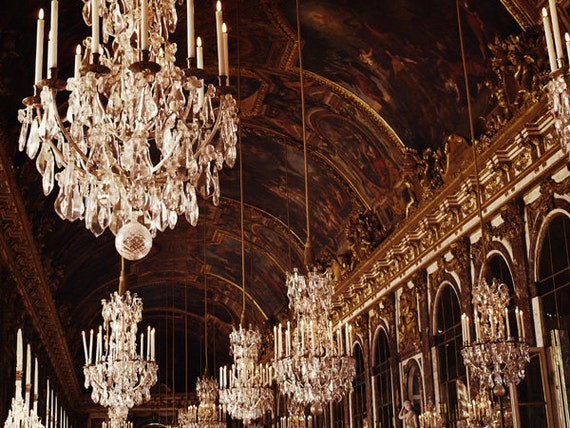 NEW PRICE - Hall of Mirrors - Versailles Paris - Crystal Gold - 16x20""