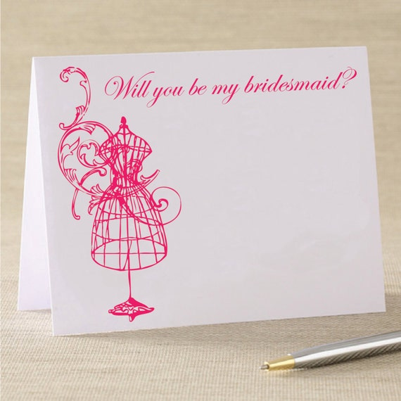Will You Be My Bridesmaid Wedding Card