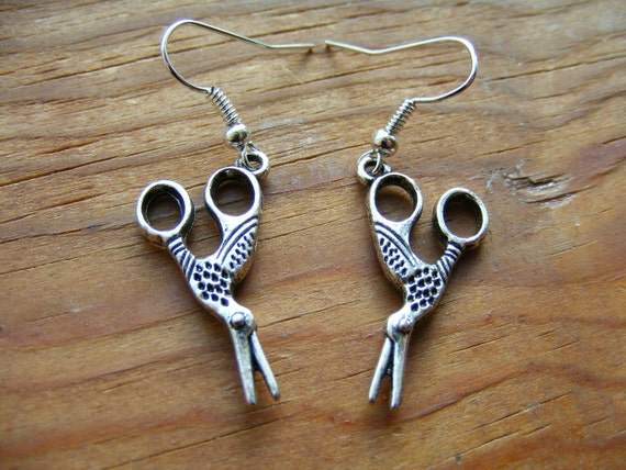 Earrings Scissor Birds