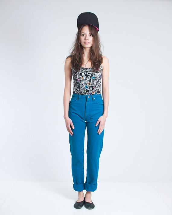 Vintage 90's Wrangler Blue High Waisted Jeans